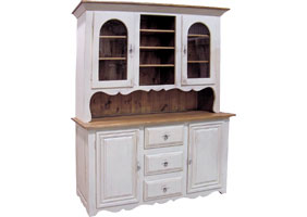 Country french hutch with white paint finish
