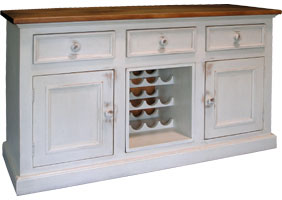 Country Wine Buffet painted finish