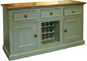 Country Wine Buffet painted and stained