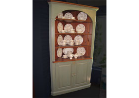Domed Corner Cupboard painted finish