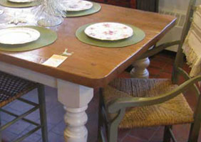 7 Foot Farm Table with Vintage in Champlain