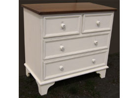 Four Drawer Dresser White