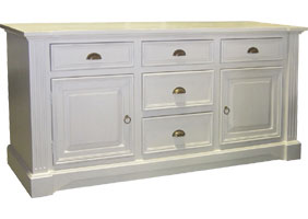 French provincial buffet in sturbridge white