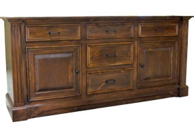 French provincial buffet in tuscan sunset aged finish stain