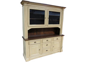 french provincial hutch in natural