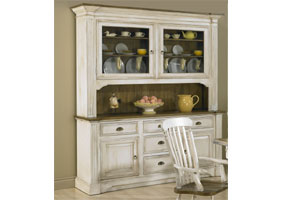 French Provincial Hutch in black cherry