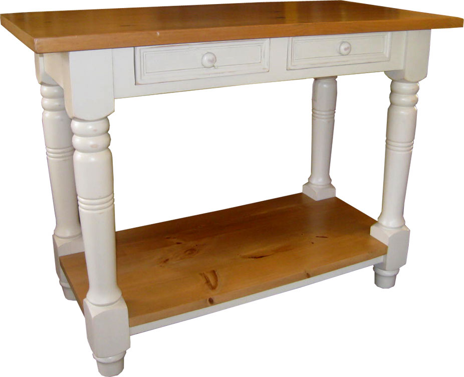 Kitchen island work table, painted or stained