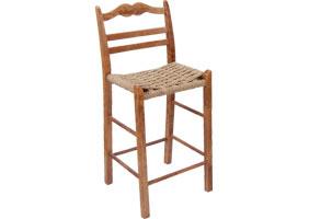 French Country Ladderback Barstool in Natural