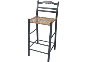 French Country Ladderback Counter Stool
