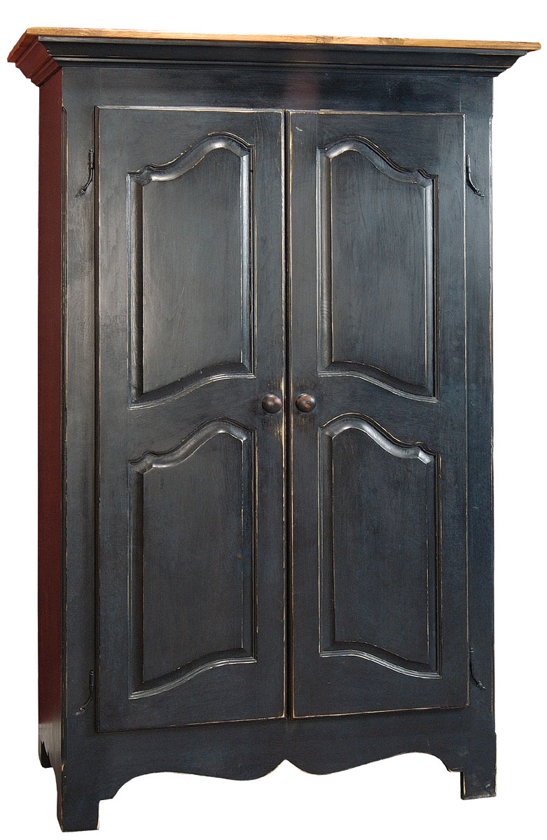 Louis XV Armoire Finished In Midnight Blue