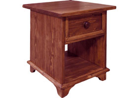 Open Shelf End Table