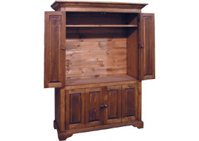 Flat Screen TV Armoire, walnut stain
