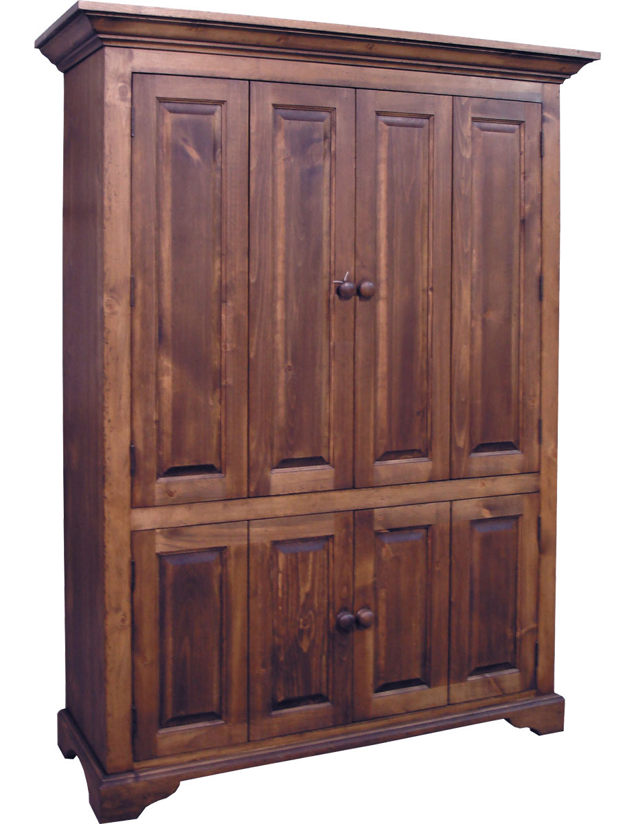 French Country Flat Screen Tv Armoire Walnut Stain