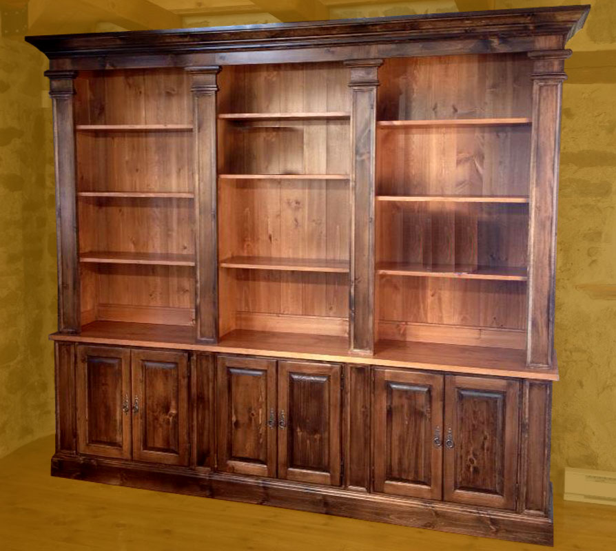 French Provincial Bookcase Wall Unit Painted Or Stained