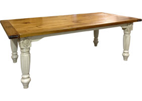 French Provincial Table in Sturbridge Glaze