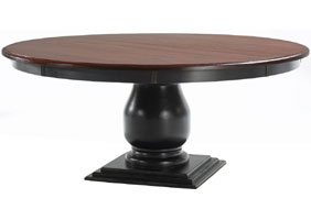 72 inch Round Pedestal Dining Table in Sturbridge