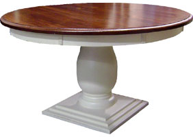 54 inch Round Pedestal Dining Table in Sturbridge