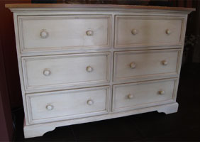 Six Drawer Dresser White