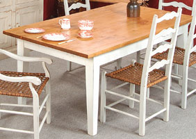 Square Leg Table in Sturbridge White