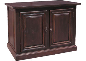 two door tall provincial buffet in black cherry