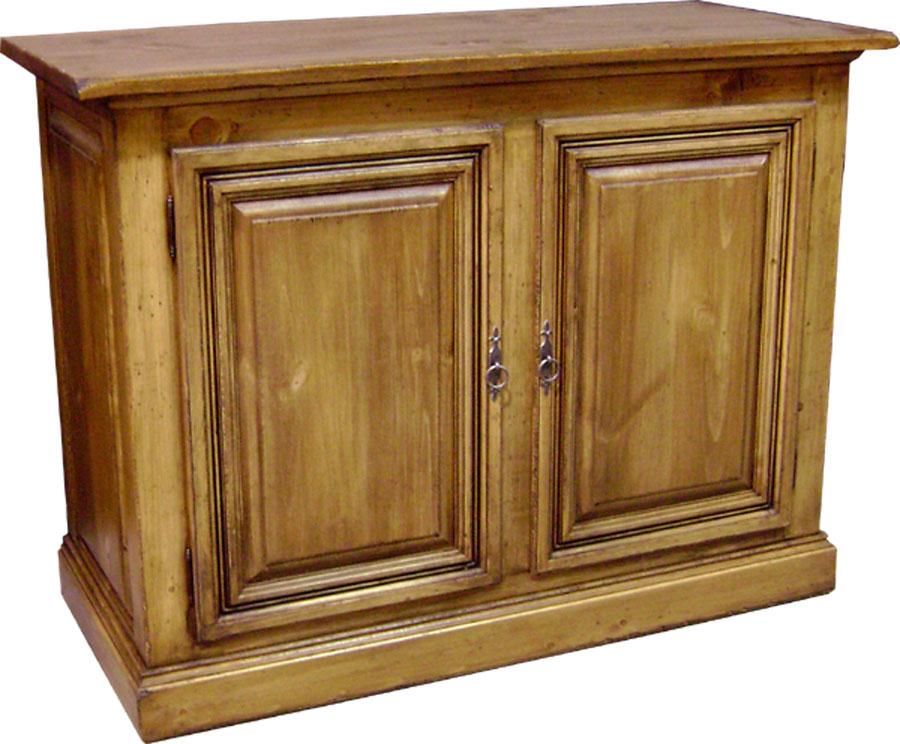 two door tall provincial buffet natural wood stain finish