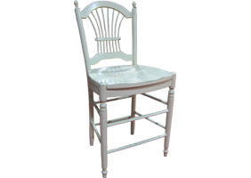 Wheat back Barstool in sturbridge with wood seat