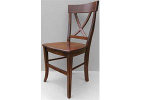 X Back Side Chair in Sequoia stain with Wood seat