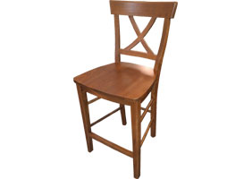 X back counter stool stained Tuscan Sunset