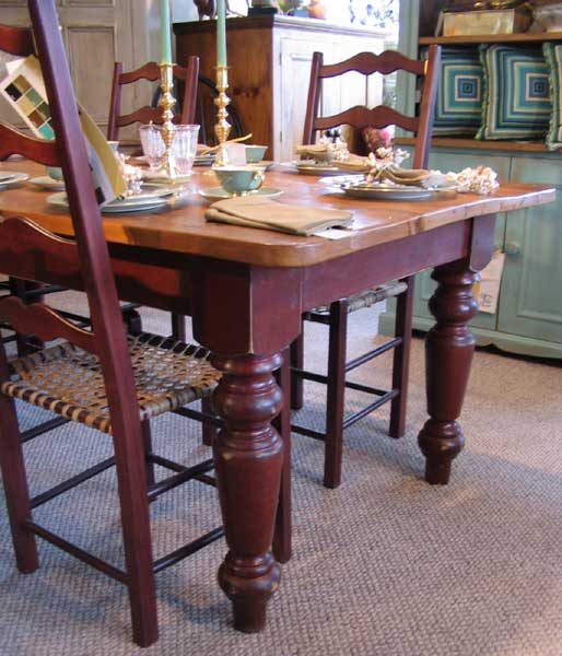 Farm Table with Barn Red paint