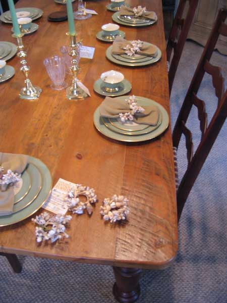 Farm Table Top Vintage Pine Wood