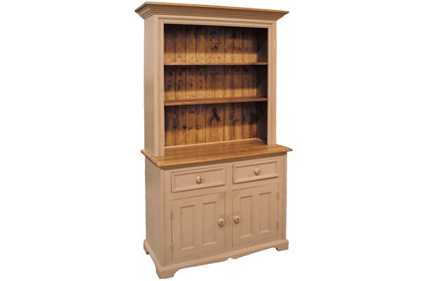 French Country Two Door Open Shelf Cupboard