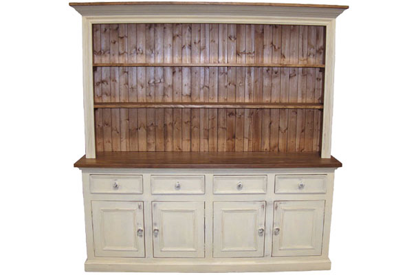 French Country Four Door Open Cupboard