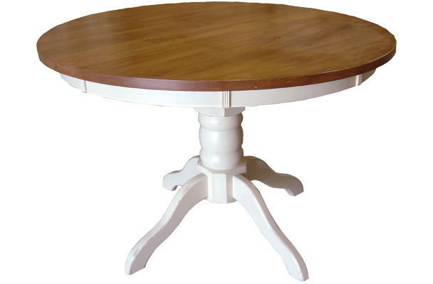 French Country 48 inch Round Pedestal Dining Table