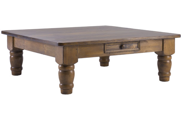 French Country 48 inch Square Coffee Table
