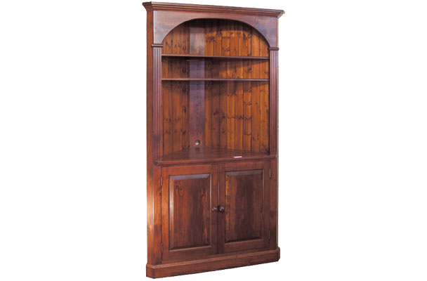 French Country Domed Corner Cupboard