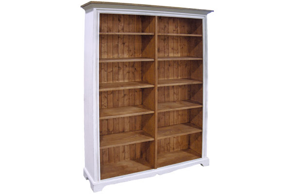 French Country Double Wide Bookcase