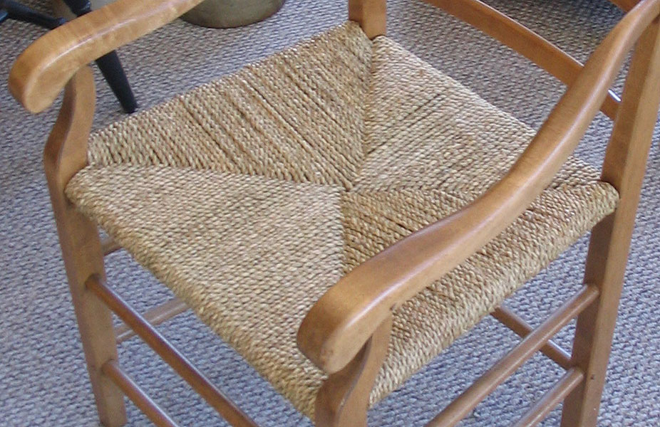French Country Chair, V-Weave Seagrass Seat