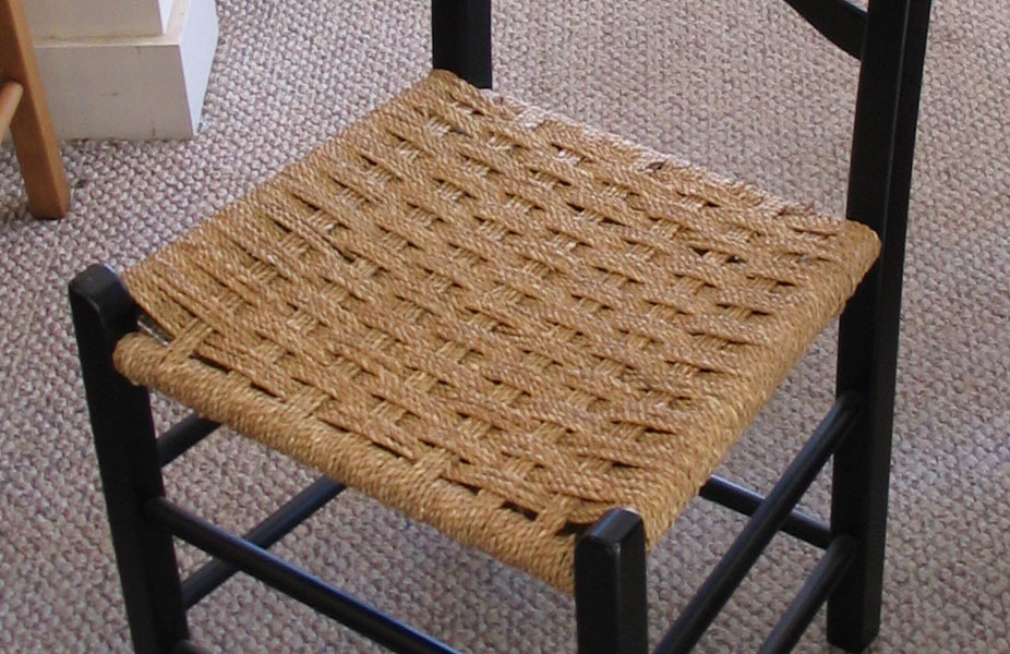 French Country Chair, Woven Seagrass Seat