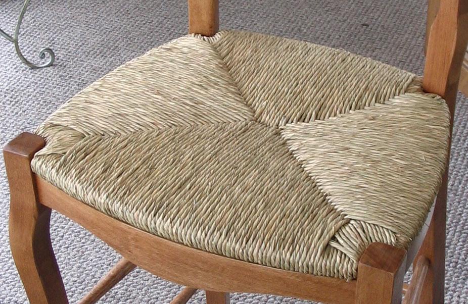 Rush Seat V Weave Pattern