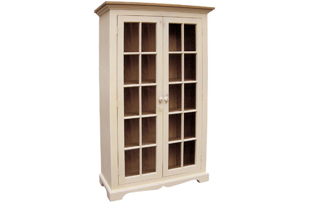 French Country Glass Door Bookcase