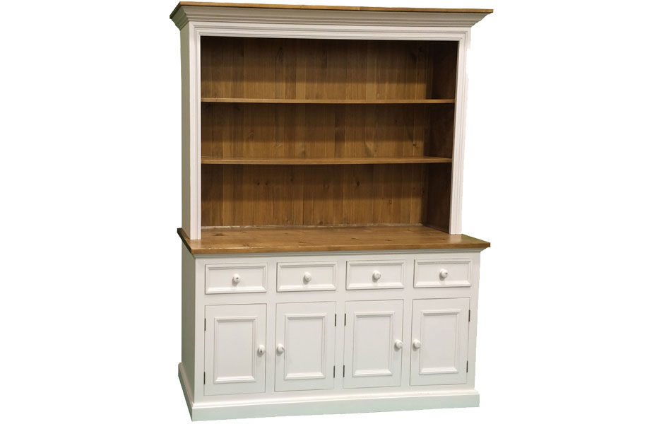 4 Door Open Cupboard Finished In Sturbridge White
