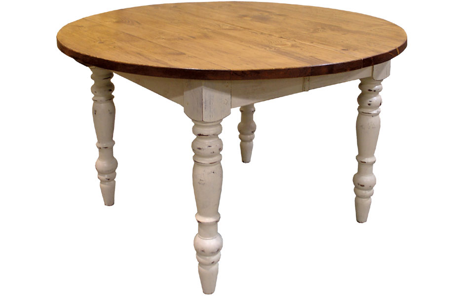 French Country 48 inch Round Table with Extensions ...