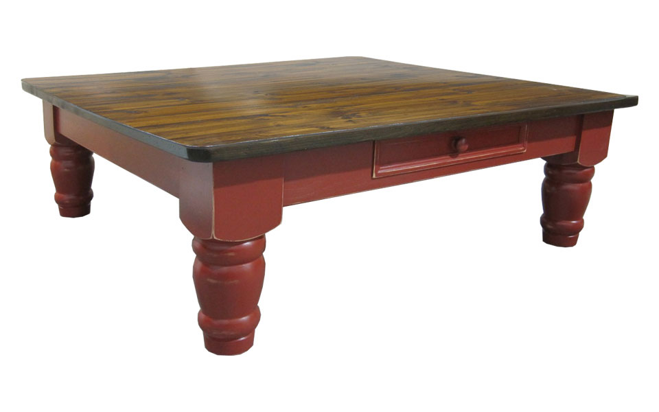 48 Inch Coffee Table In Cranberry Paint