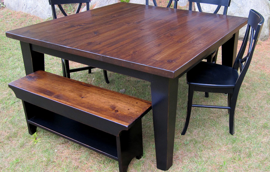 60 Inch Square Table Dining Set