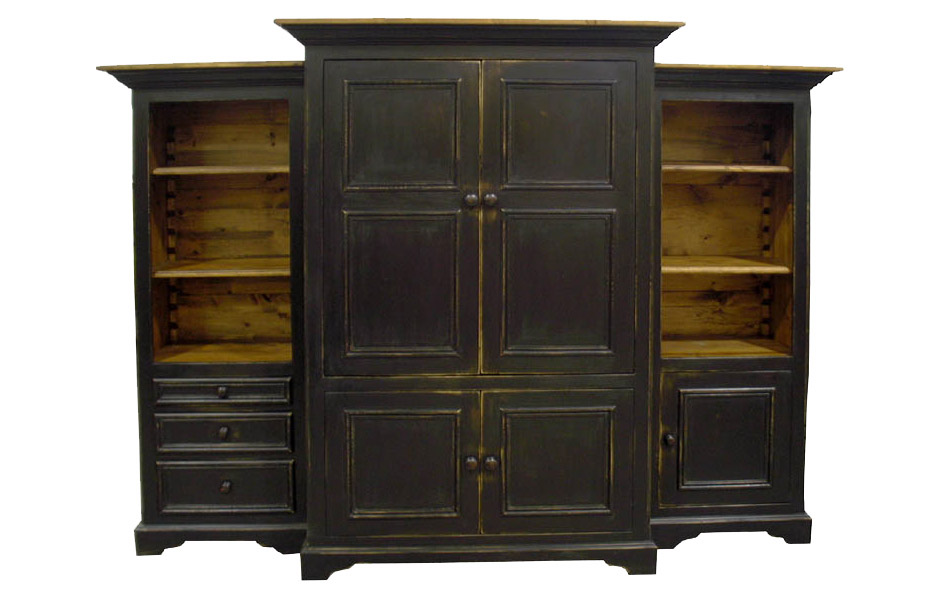 French Country Blue Hill Entertainment Center Armoire