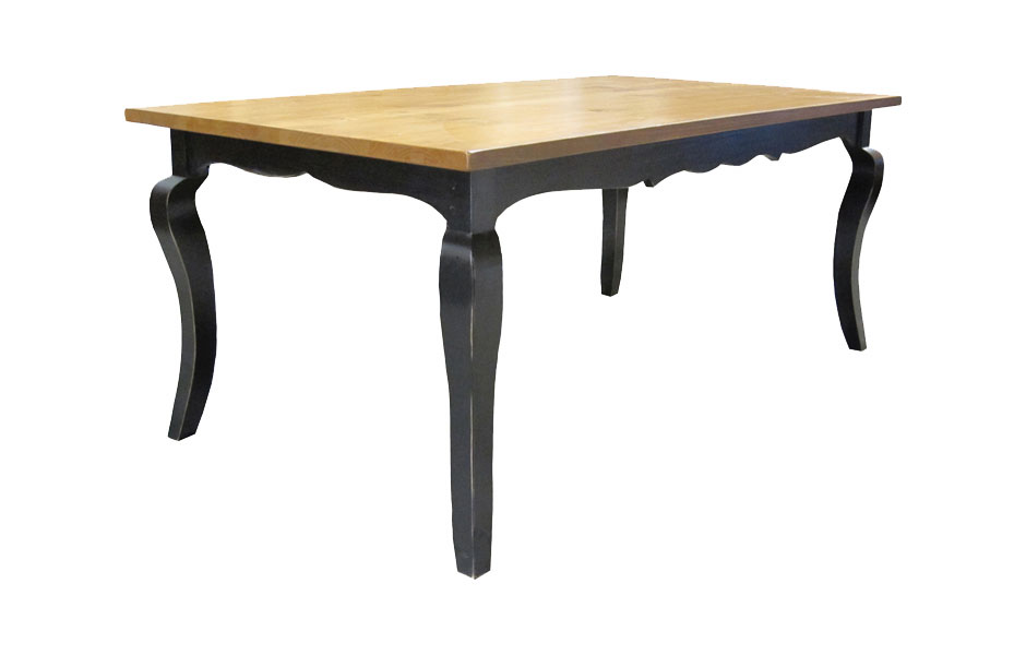 Cabriole Leg Table With Table Extensions