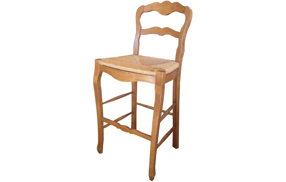Country French Ladderback Barstool Finished In Natural