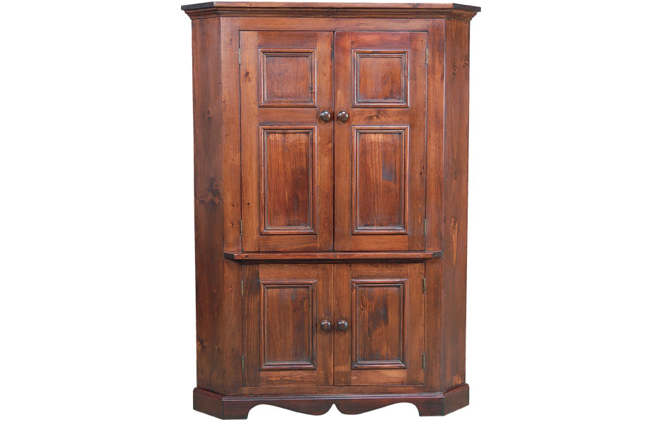 Corner tv armoire kate madison furniture for Entertainment armoire