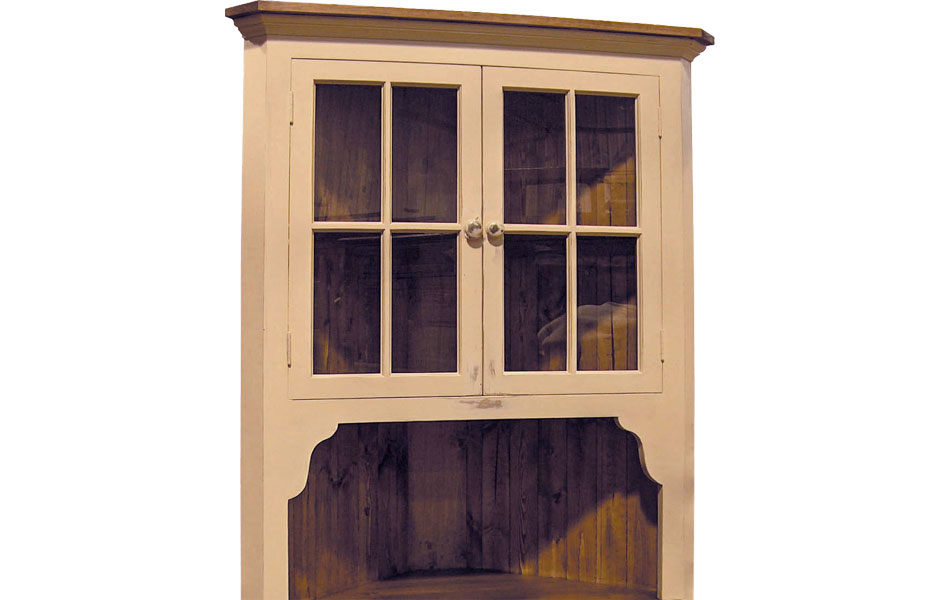 French Country Cottage Corner Cupboard French Country
