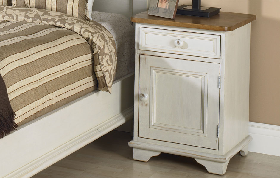French Country Door And Drawer End Table French Country Living